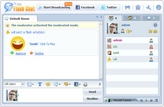 License Info in Admin Panel of 123FlashChat, Video Chat, Flash Chat, Chat Software, PHP Chat