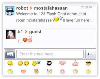 Neat UI of 123 Flash Chat, iPhone App, iPad App, Android App