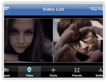 User Video Chat in 123 Flash Chat, Android App